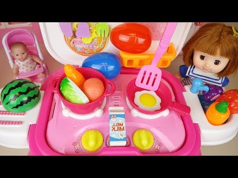 Ba doll kitchen and cooking food toys ba Doli play