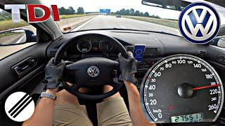 VW PASSAT 1.9 TDI B5 131HP TOP SPEED DRIVE ON GERMAN AUTOBAHN 🏎