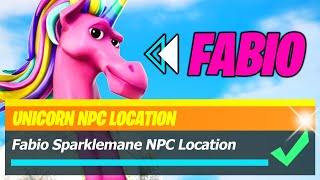 Fabio Sparklemane Location (UNICORN NPC #2) in Fortnite Season 8