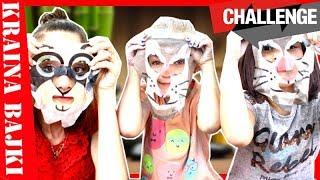 MASECZKA CHALLENGE! Czy Monia założy na twarz maskę psa? TEST MASECZEK PIELĘGNACYJNYCH DLA DZIECI
