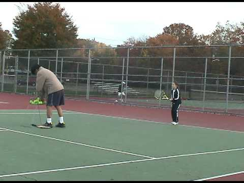 Talia Shapira Tennis Lesson Oct 2009 clip 2