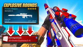 *NEW* EXPLOSIVE SNIPER ROUNDS in WARZONE! (RYTEC AMR)