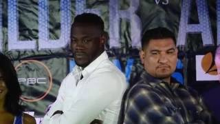 Deontay Wilder-Chris Arreola Los Angeles press conference