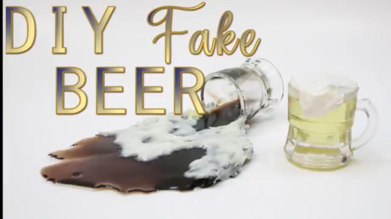 Diy Fake Miniature Mug Of Beer Spilled Prank Resin Food Prop Gag Faux By Hey Maaa