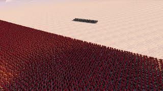 100 MODERN SOLDIERS vs 20.000 SPARTANS | Ultimate Epic Battle Simulator screenshot 3