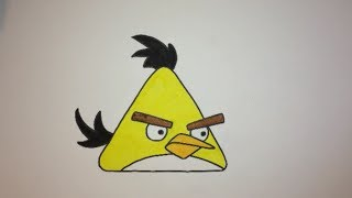 How To Draw The Yellow Angry Bird Step By Step