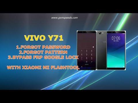 FIX SOLUTIONS VIVO Y71 FORGOT PASSWORD AND PATTERN VIA MI FLASH