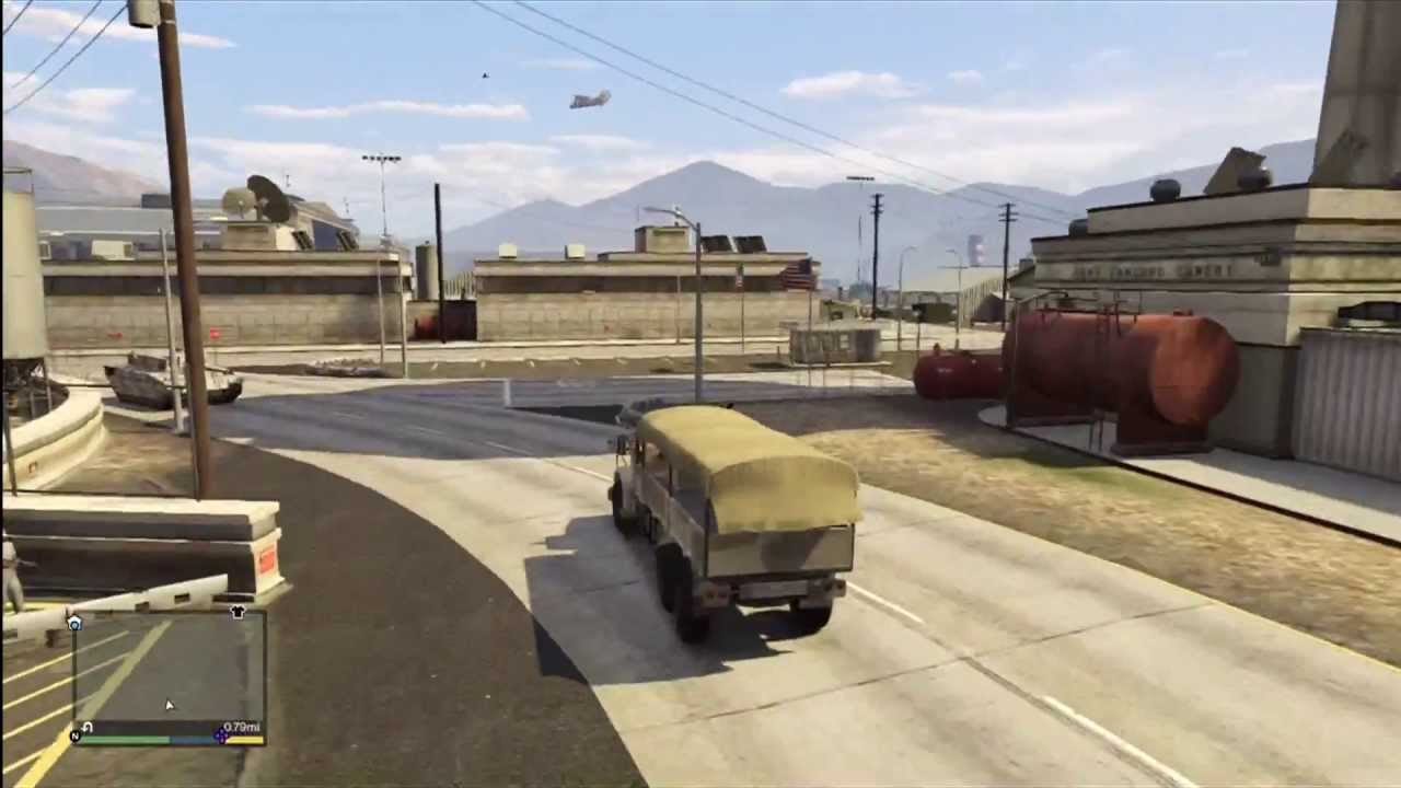 Gta  Secret Hidden Military Army Truck Barracks Hvy Gameplay Review Youtube