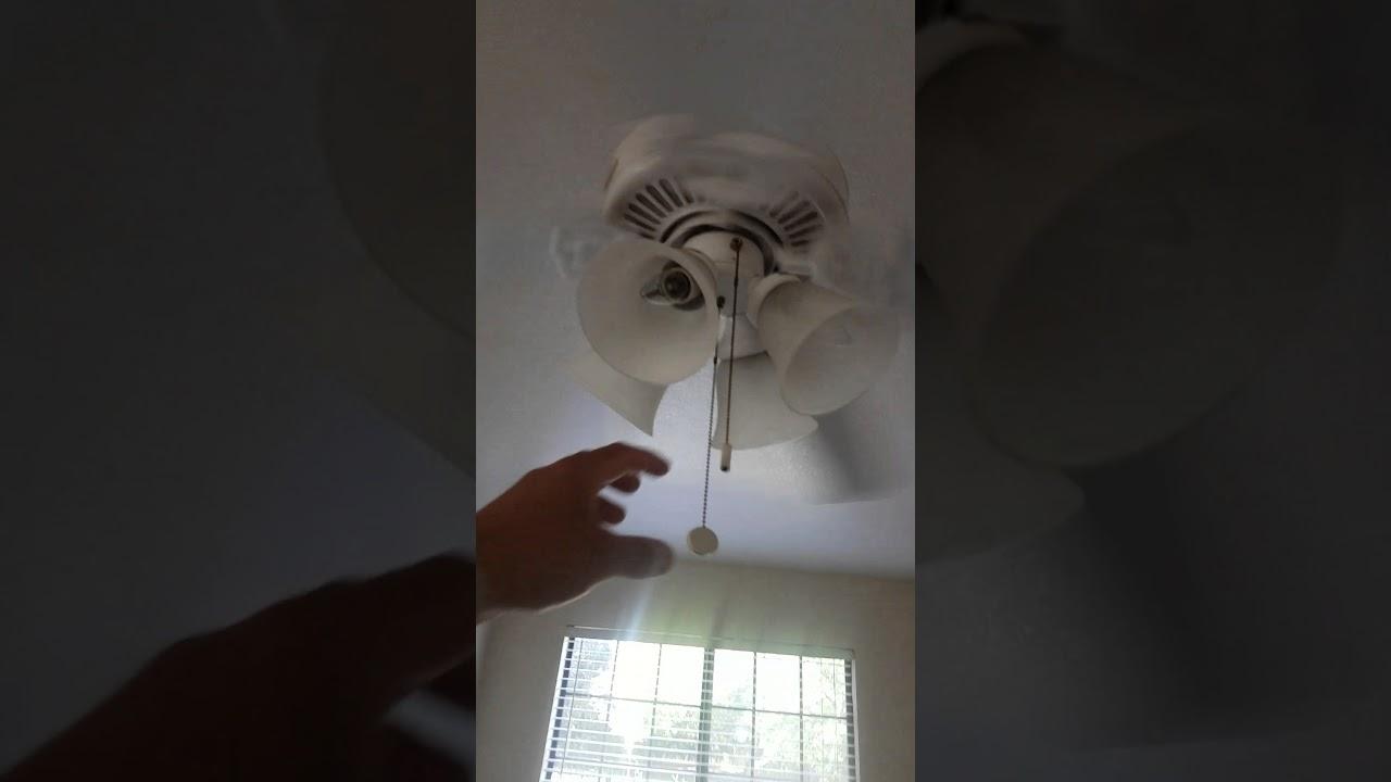 Cealing Fan Pull Chain Stuck Youtube