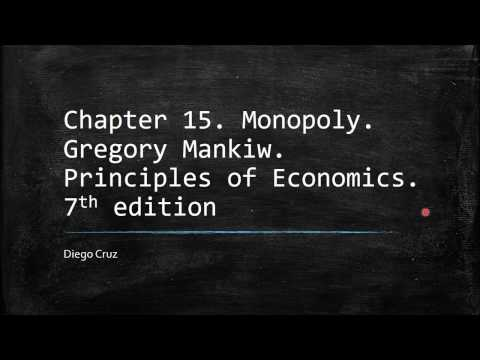 Chapter 15. Monopoly. Gregory Mankiw. Principles of Economics. 7th edition