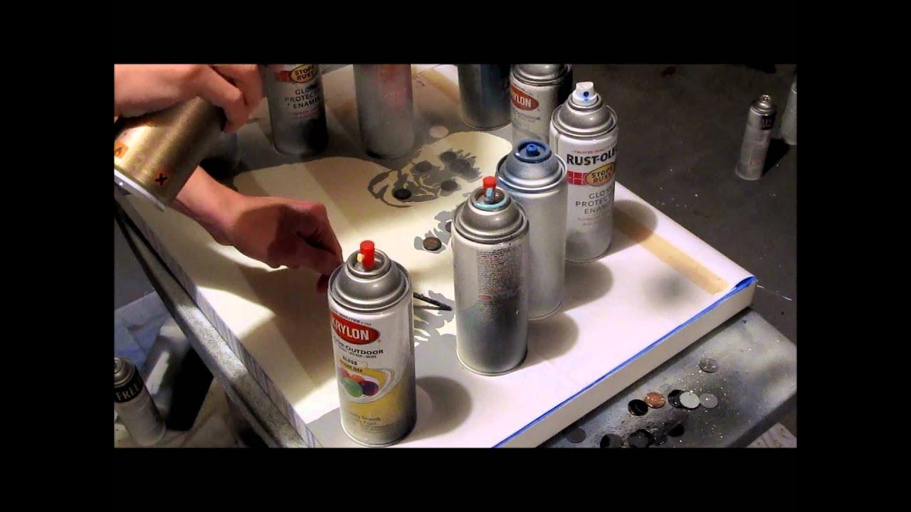 Spray Paint Art: Multi-layer Stencil - YouTube
