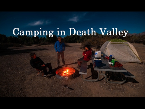 Camping in Death Valley - GoPro Hero 4 Black Timelapse -  Furnace Creek Campground - Jan 2016