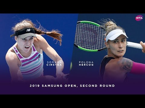 Sorana Cirstea vs. Polona Hercog | 2019 Samsung Open Second Round | WTA Highlights