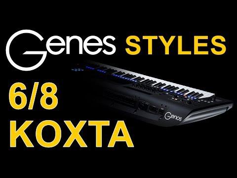 Армянские и кавказские стили ритмы для YAMAHA Genos, PSR-SX900, PSR-SX700, PSR-S975.  6/8 KOXTA