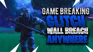 HOW TO WALLBREACH THROUGH ANY BARRIER USING THIS GAME BREAKING GLITCH (Fortnite Battle Royale)