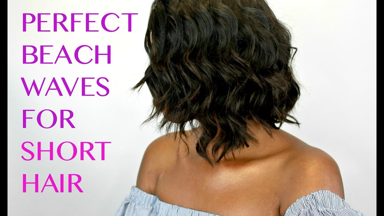 How To Create Beach Waves On Short Hair W Curling Wand Youtube