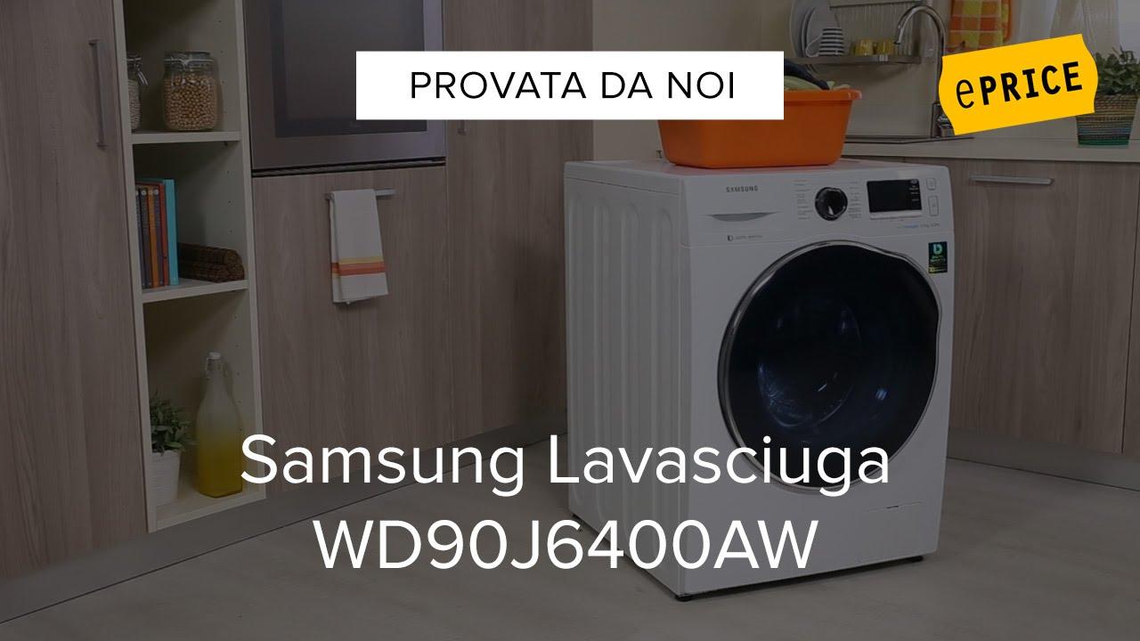 Video recensione lavasciuga samsung wd90j6400aw youtube for Lavasciuga samsung