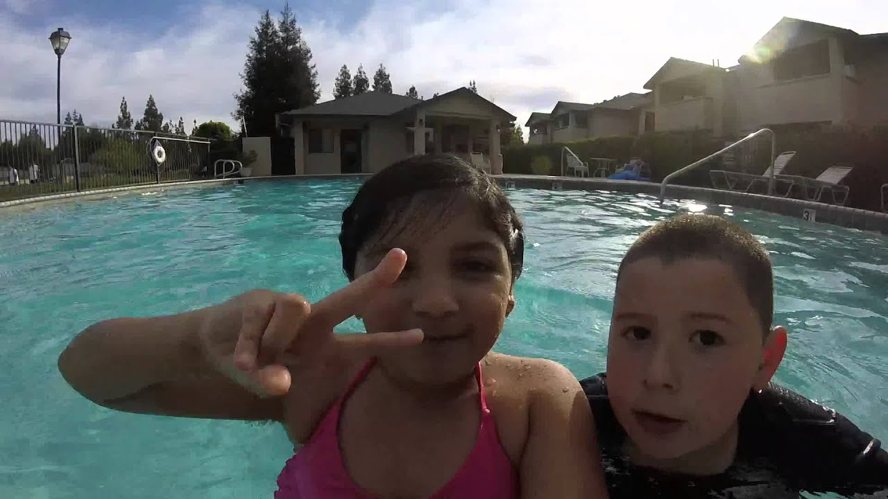 Ariel And Baby Swimming In The Pool Shot With Gopro Hero Youtube