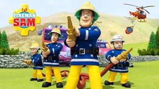 ПОЖАРНЫЙ СЭМ учится тушить огонь - мультик игра. Веселые истории про СЭМА и пожарные машины.