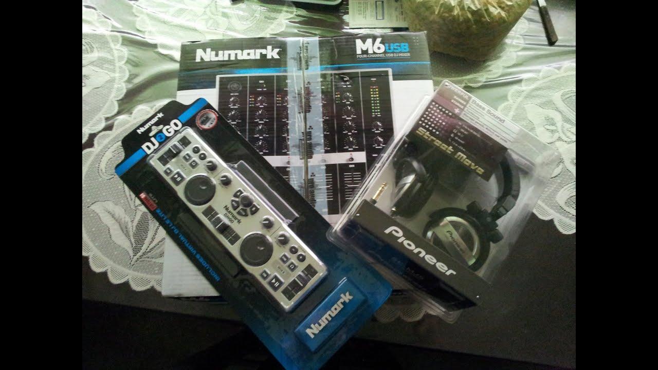 Mixer For Virtual Dj Review Numark dj2go+ mixer m6 usb + pioneer SE-MJ5 virtual ...
