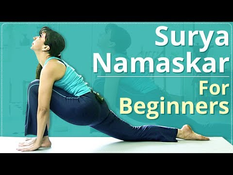 STEP BY STEP SURYA NAMASKAR FOR BEGINNERS | Learn Sun Salutation In 3 Minutes| Simple Yoga Lessons