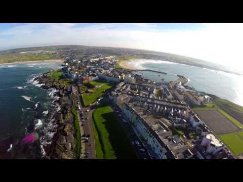 Very short clip of Portrush Co. Antrim, N. Ireland