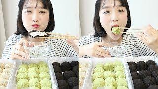 크림 듬뿍 크림떡 먹방 _ 청년떡집의 카카오크림떡, 녹차크림떡, 티라미슈크림떡 :D