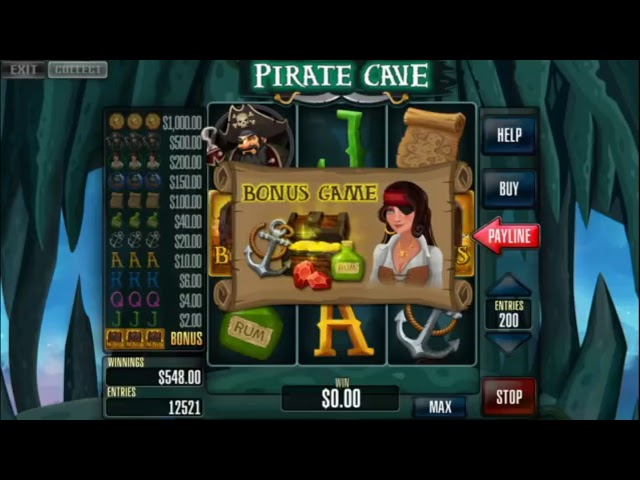 Custom slot machine software. Pirate Cave for street operations from Inbet Games