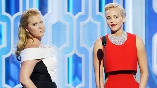 Jennifer Lawrence and Amy Schumer Present Together at the Globes And Prove They MUST Host