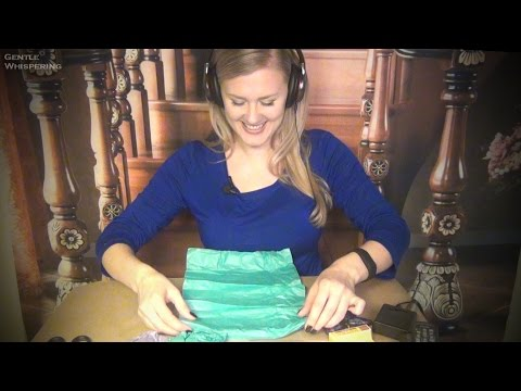 Mic Test and Unboxing packages. ASMR. Cards, Tissue Paper, ASMR Book, Souvenirs, Bath Bombs