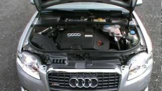 2007  Audi A4 2.0 TDI DPF S-LINE Review,Start Up, Engine, and In Depth Tour