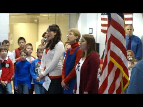 North Broad Street School Veteran's Day Assembly National Anthem