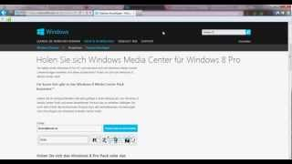 Windows 8 / Media Center Pack ( Free 31.01.2012 ) Kostenlosen Product Key