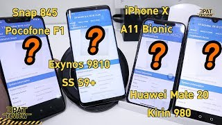 ||| วัดความแรงCPU Snap845 exynos9810 Kirin 980 A12 Bionic A11 Bionic ใครแรงสุด
