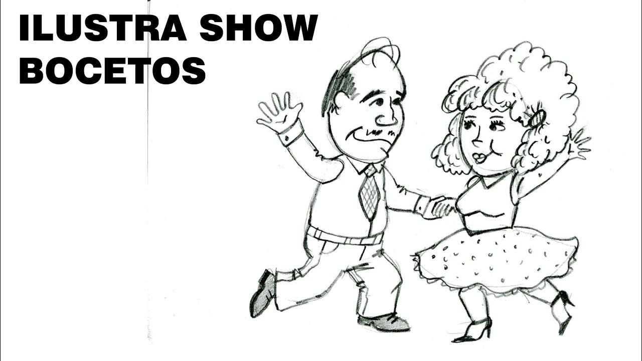 Bocetos Cómo Dibujar Pareja Bailando Tutorial Ilustra Show