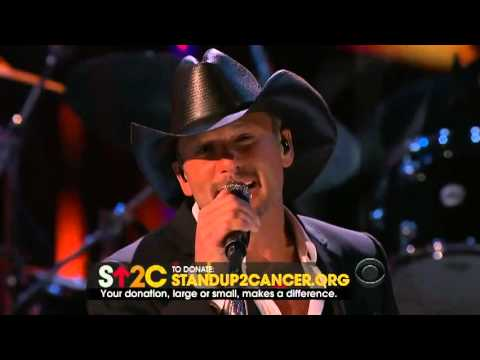 Tim McGraw - Stand Up To Cancer 'Live Like You Were Dying