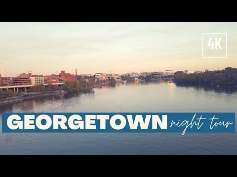 Quiet Night | Walking Tour Night Georgetown DC 4K 60 fps | New Video-2020  | Dory's Sandbox