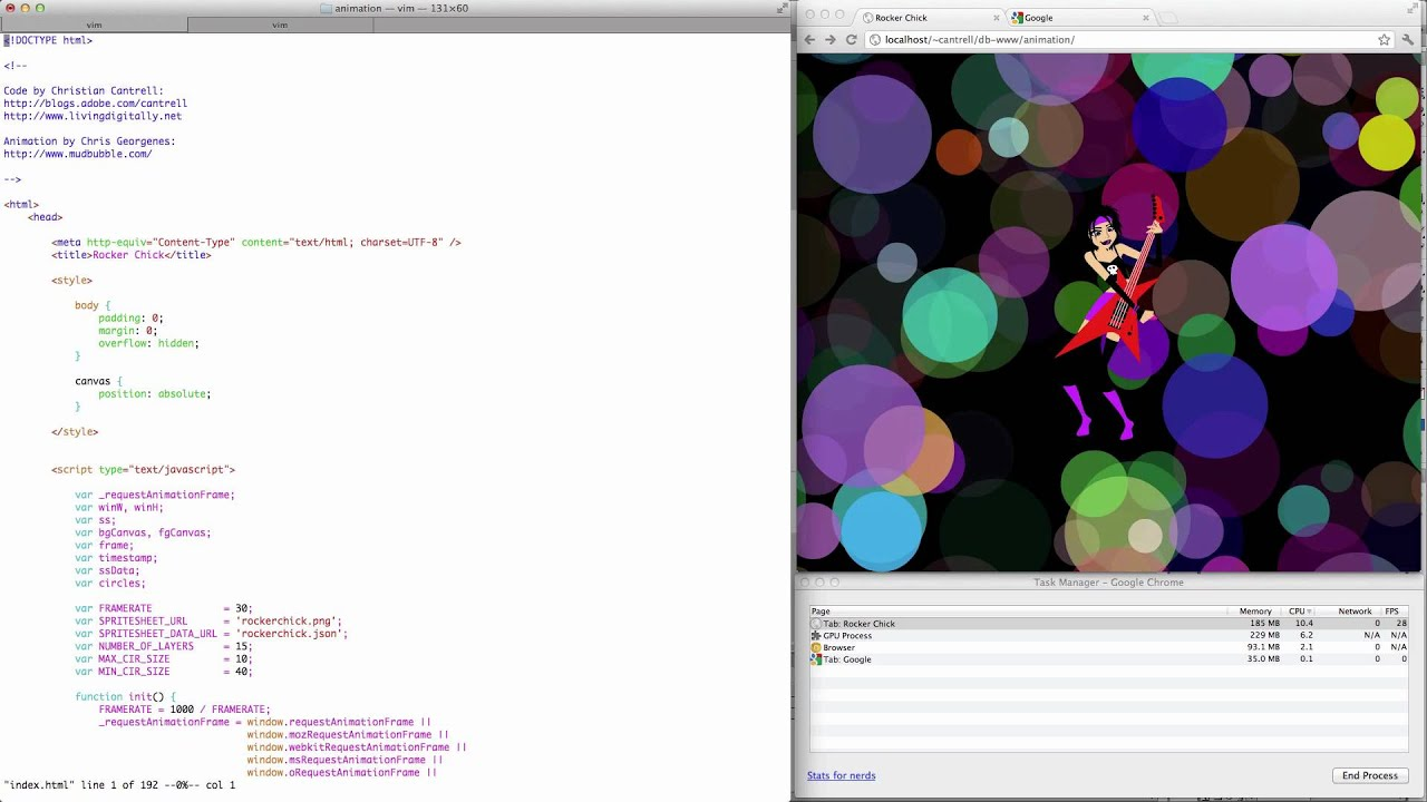 HTML Animation with requestAnimationFrame