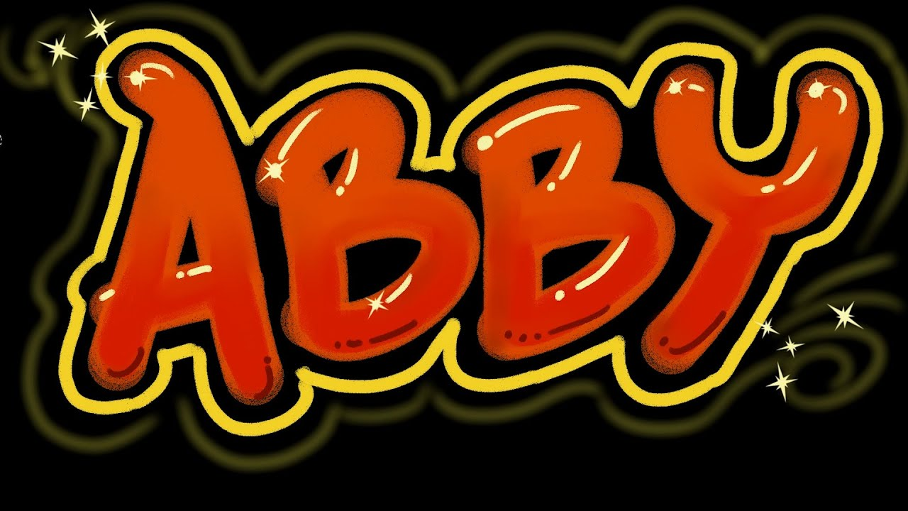 Abby graffiti letters speed version get your name bp