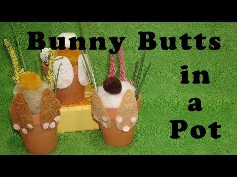 DIY Curious Bunny Flower Pot Spring Decpr