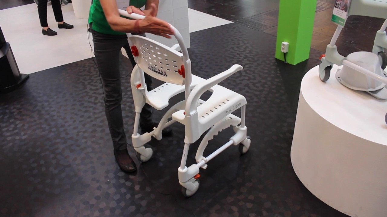 new clean shower commode chair from etac youtube