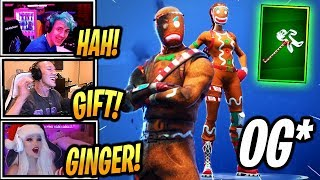 TFUE & STREAMERS React *OG* MERRY MARAUDER & GINGER GUNNER Skins! - Fortnite Epic & Funny Moments