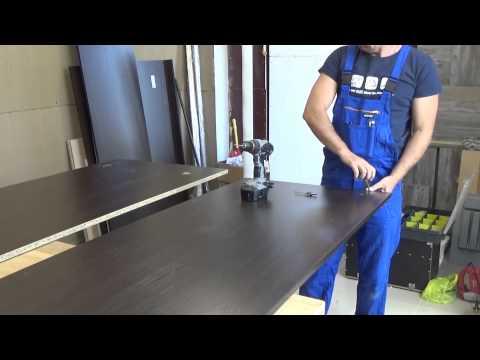 видео: Шкаф купе, сверление отверстий., подрезка под плинтус, ножка м6
