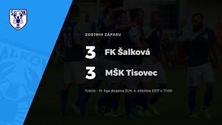 Zostrih zápasu FK Šalková - MŠK Tisovec, 14.10.2017 o 17:00