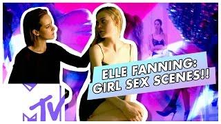 THE NEON DEMON Lesbian Sex Scenes - Elle Fanning BEHIND THE SCENES | MTV Movies