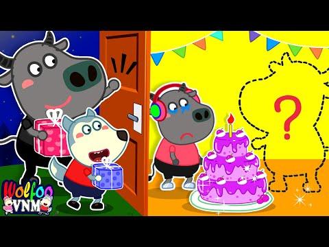 Bữa tiệc sinh nhật vắng bố của Bufo - Phim gia đình   Phim hoạt hình Wolfoo tiếng Việt