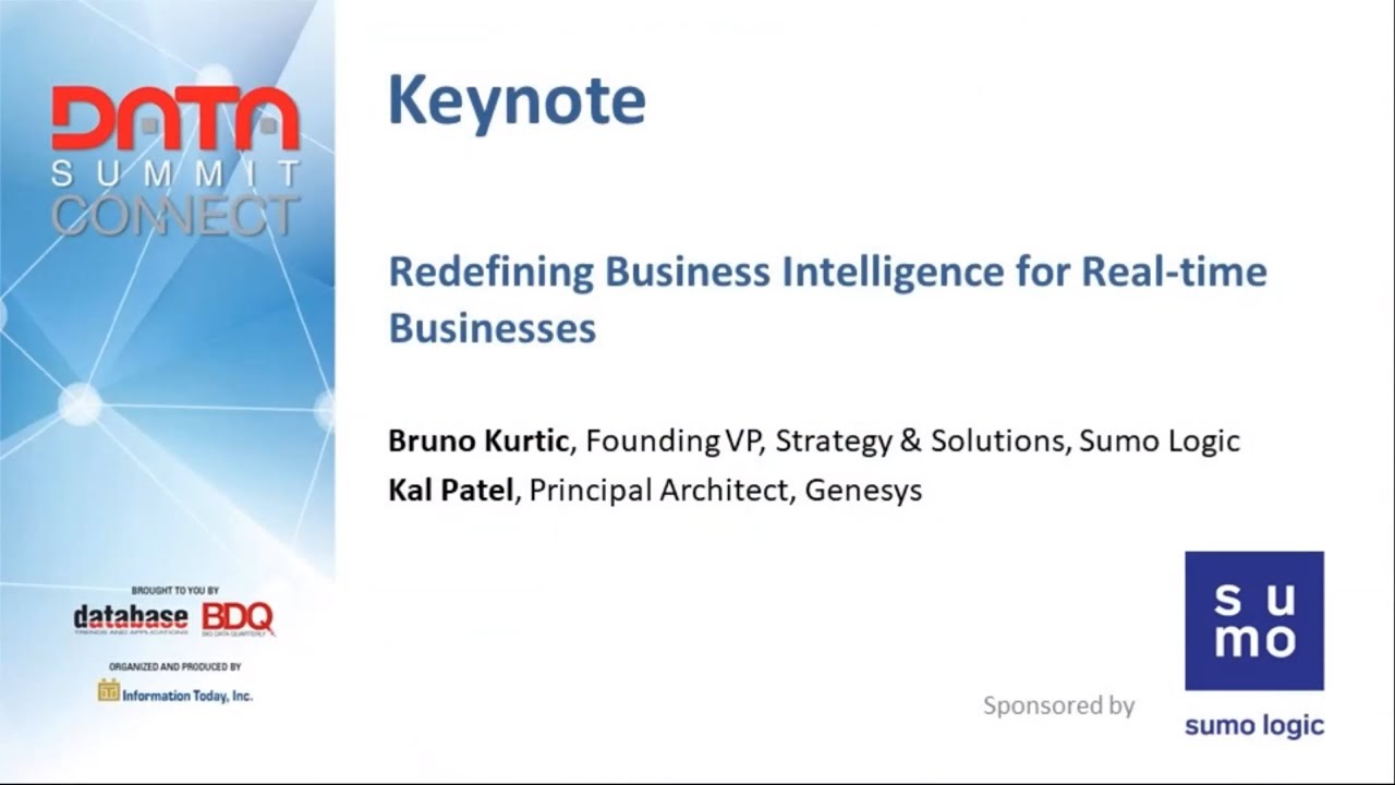 Download WED1. Keynote: Redefining Business Intelligence For Real-Time Businesses