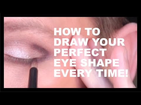 HOW TO DRAW THE PERFECT EYE SHAPE EVERY SINGLE TIME!
