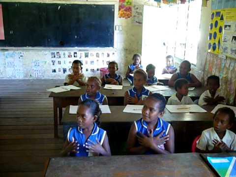 solomon islands kids singing