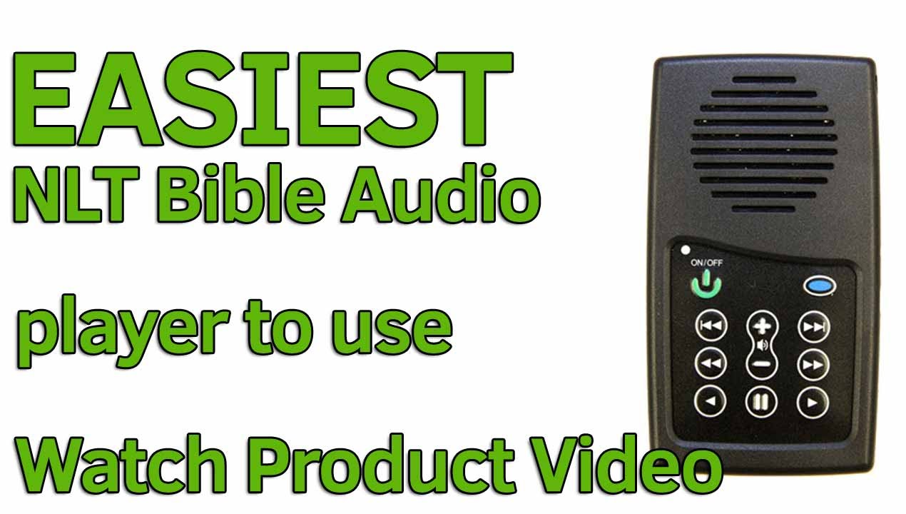 NLT Audio Bible Player, EASIEST audio Bible player in the world to use